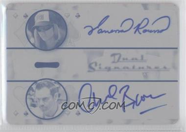 2010 Razor Poker - Dual Signatures - Printing Plate Cyan [Autographed] #DS-2 - Vanessa Rousso, Chad Brown