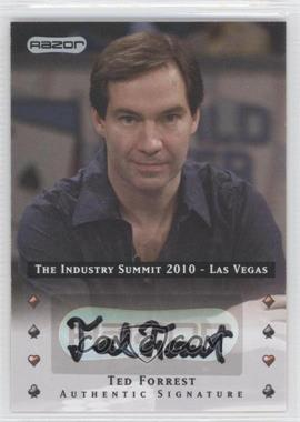 2010 Razor Poker - The Industry Summit 2010 Las Vegas - [Autographed] #LV-AU-TF - Ted Forrest