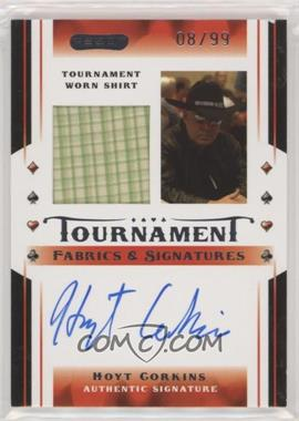 2010 Razor Poker - Tournament Fabrics & Signatures - [Autographed] #TFS-3 - Hoyt Corkins /99