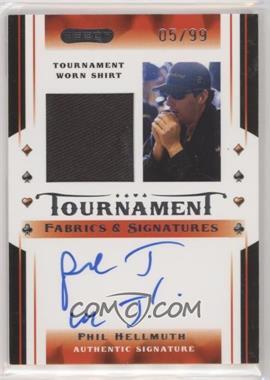 2010 Razor Poker - Tournament Fabrics & Signatures - [Autographed] #TFS-7 - Phil Hellmuth /99