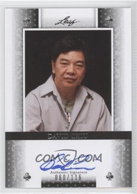 2011 Leaf - [Base] - Black Clubs #BA-DC1 - David Chiu /116