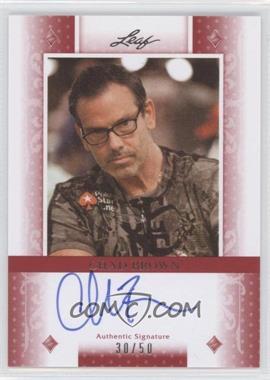 2011 Leaf - [Base] - Red Diamonds #BA-CB1 - Chad Brown /50