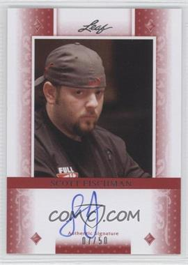 2011 Leaf - [Base] - Red Diamonds #BA-SF1 - Scott Fischman /50