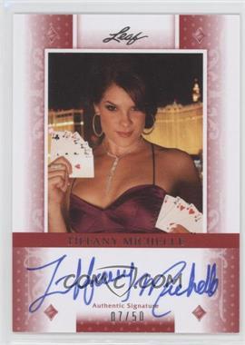 2011 Leaf - [Base] - Red Diamonds #BA-TM1 - Tiffany Michelle /50