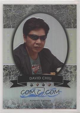 2012 Leaf Metal - [Base] - Silver Prismatic #MB-DC1 - David Chiu /25