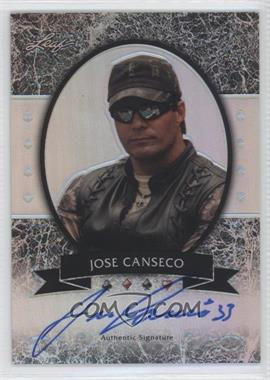 2012 Leaf Metal - [Base] - Silver Prismatic #MB-JC2 - Jose Canseco /25