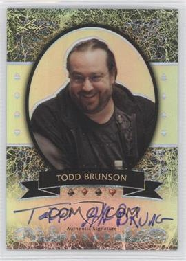 2012 Leaf Metal - [Base] - Silver Prismatic #MB-TB1 - Todd Brunson /25