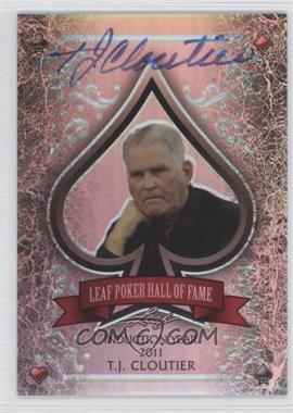 2012 Leaf Metal - Leaf Poker Hall of Fame - Silver Prismatic #HOF-TJC - Tj Cloutier /10