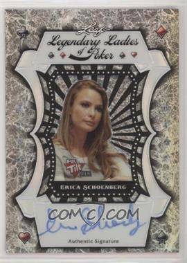 2012 Leaf Metal - Legendary Ladies of Poker - Silver Prismatic #LL-ES1 - Erica Schoenberg /25