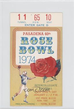 1902-Now Rose Bowl - Ticket Stubs #60 - 1974 (Southern California (USC) Trojans vs. Ohio State Buckeyes) [Good to VG‑EX]