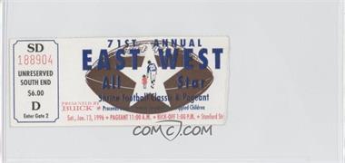 1925-Now East-West Shrine Game - Ticket Stubs #71 - January 13, 1996 [GoodtoVG‑EX]
