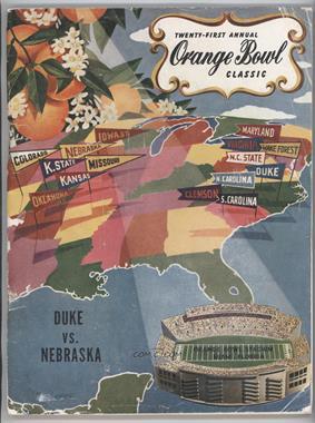 1935-Now Orange Bowl - Game Programs #21 - 1955 (Duke Blue Devils vs. Nebraska Cornhuskers) [GoodtoVG‑EX]