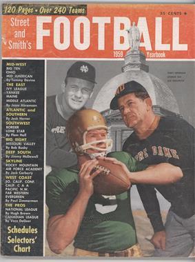 1940-2007 Street and Smith's Football Yearbook - [Base] #19 - 1959 (Terry Brennan, George Izo, Joe Kuharich) [GoodtoVG‑EX]