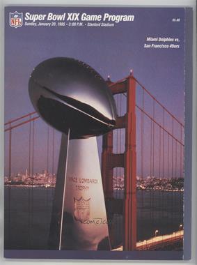 1967-Now Super Bowl - Game Programs #XIX - San Francisco 49ers vs. Miami Dolphins