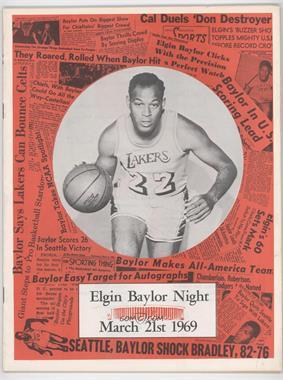 1969 Elgin Baylor Night - Event Program #ELBA - March 21 (Elgin Baylor)