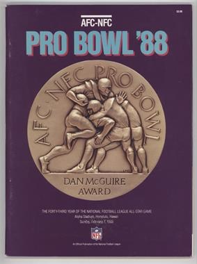 1970-Now AFC-NFC Pro Bowl - Game Programs #18 - 1988