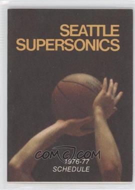 1976-77 Seattle Supersonics - Team Schedules #N/A - [Missing]