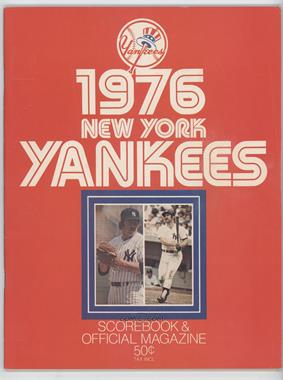 1976 New York Yankees - Scorebook and Official Magazine #NYYA - New York Yankees
