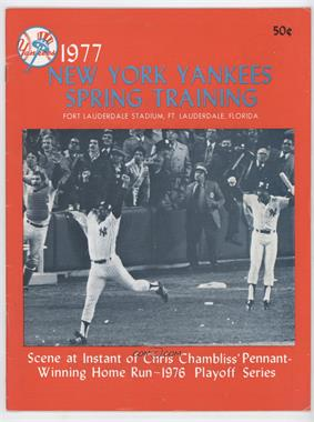 1977 New York Yankees - Game Programs #CHCH - Spring Training (Chris Chambliss) [GoodtoVG‑EX]