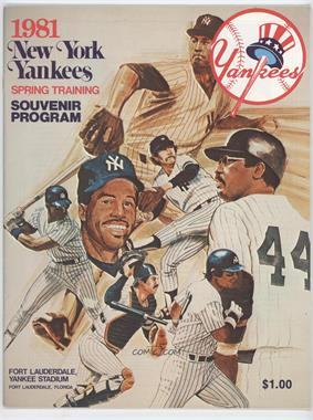 1981 New York Yankees - Souvenir Programs #NYYA - Spring Training (New York Yankees)