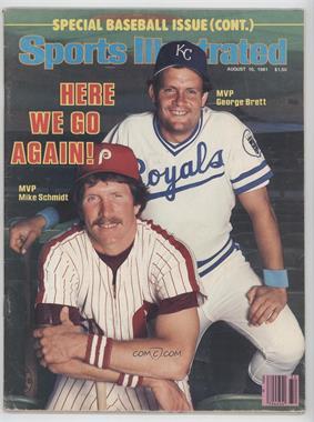 1981 Sports Illustrated - [Base] #8-10 - Mike Schmidt, George Brett [GoodtoVG‑EX]