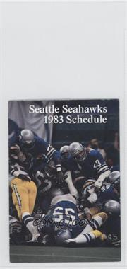 1983 Seattle Seahawks - Team Schedules #SESE - Seattle Seahawks