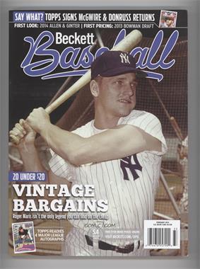 1984-Now Beckett Baseball - [Base] #02-14 - February 2014 (Roger Maris)