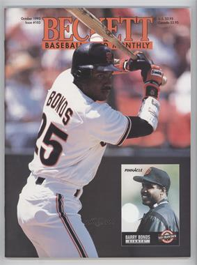 1984-Now Beckett Baseball - [Base] #103 - October 1993 (Barry Bonds)