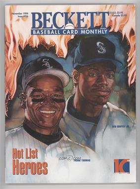 1984-Now Beckett Baseball - [Base] #116 - November 1994 (Frank Thomas, Ken Griffey Jr.)