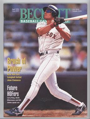 1984-Now Beckett Baseball - [Base] #121 - April 1995 (Jose Canseco)
