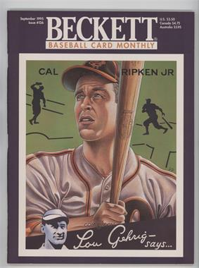 1984-Now Beckett Baseball - [Base] #126 - September 1995 (Cal Ripken Jr.)