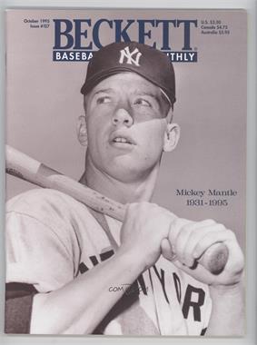 1984-Now Beckett Baseball - [Base] #127 - October 1995 (Mickey Mantle)