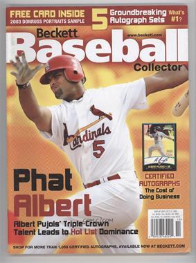 1984-Now Beckett Baseball - [Base] #223 - October 2003 (Albert Pujols) [GoodtoVG‑EX]