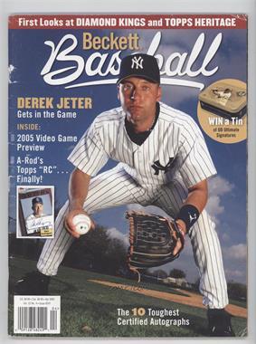 1984-Now Beckett Baseball - [Base] #241 - April 2005 (Derek Jeter) [GoodtoVG‑EX]