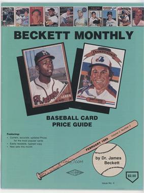 1984-Now Beckett Baseball - [Base] #4 - February 1985 (Hank Aaron, Gary Carter)