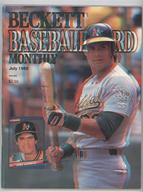 1984-Now Beckett Baseball - [Base] #40.1 - July 1988 (Jose Canseco) (3-D cover)