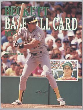 1984-Now Beckett Baseball - [Base] #44 - November 1988 (Jose Canseco) [GoodtoVG‑EX]