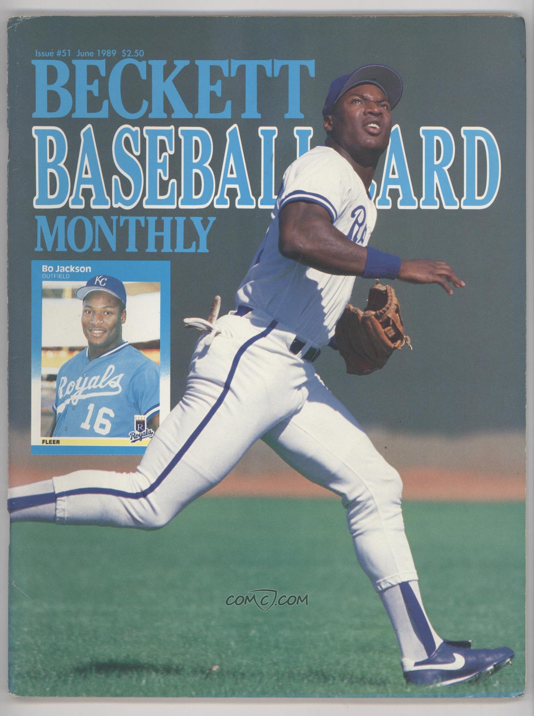 1984 Now Beckett Baseball Base 51 June 1989 Bo Jackson