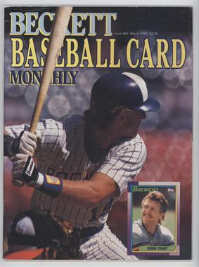 1984-Now Beckett Baseball - [Base] #60 - March 1990 (Robin Yount) [GoodtoVG‑EX]
