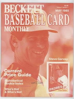 1984-Now Beckett Baseball - [Base] #7.1 - May 1985 (Steve Garvey) (Color Test) [GoodtoVG‑EX]