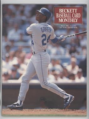 1984-Now Beckett Baseball - [Base] #72 - March 1991 (Ken Griffey Jr.)