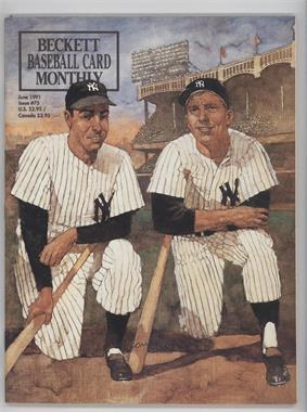 1984-Now Beckett Baseball - [Base] #75 - June 1991 (Joe DiMaggio, Mickey Mantle, Lou Gehrig, Babe Ruth)