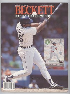1984-Now Beckett Baseball - [Base] #81 - December 1991 (Cecil Fielder)