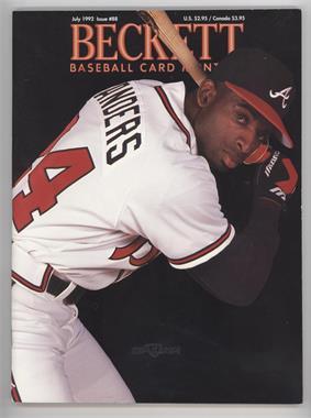1984-Now Beckett Baseball - [Base] #88 - July 1992 (Deion Sanders)