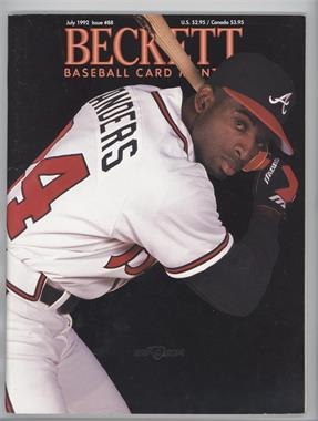 1984-Now Beckett Baseball - [Base] #88 - July 1992 (Deion Sanders) [GoodtoVG‑EX]