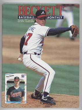 1984-Now Beckett Baseball - [Base] #92 - November 1992 (Tom Glavine)