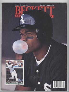 1984-Now Beckett Baseball - [Base] #94 - January 1993 (Frank Thomas) [GoodtoVG‑EX]