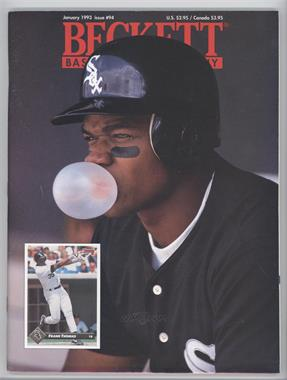 1984-Now Beckett Baseball - [Base] #94 - January 1993 (Frank Thomas) [Good to VG‑EX]