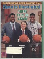 John Thompson, Ronald Reagan, Patrick Ewing [Good to VG‑EX]