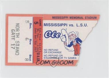 1985 Mississippi Rebels - Football Ticket Stubs #5 - November 2 vs. Louisiana State University (LSU) Tigers [GoodtoVG‑EX]